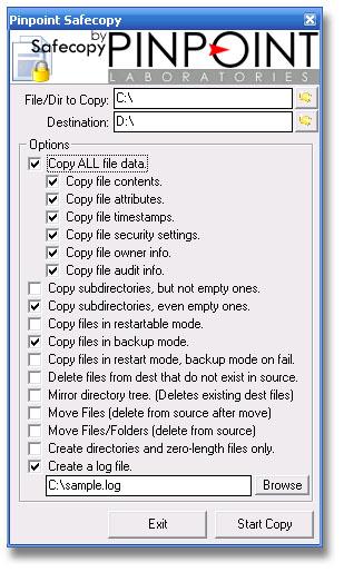 SafeCopy screen shot
